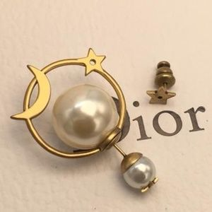 Dior Moon Mix Star Earrings